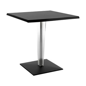 Kartell - Top Top Dr. Yes Tisch quadratisch - schwarz/matt/quadratisches Bein/70x70cm