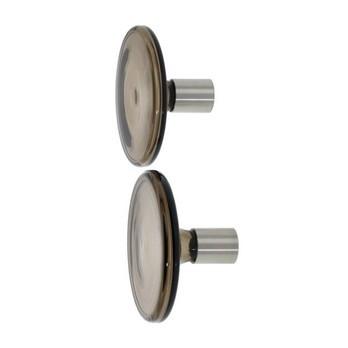Schönbuch - Bulb 12 Garderobenhaken set - rauchgrau/2 Stück/Ø 12,0 cm/Schaft aus Edelstahl gebürstet