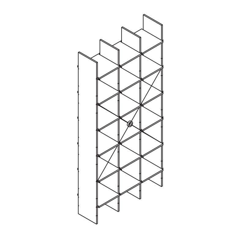 moormann fnp regal system 175x223cm moormann. Black Bedroom Furniture Sets. Home Design Ideas