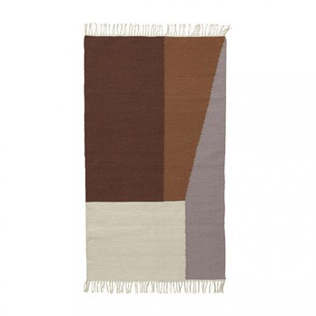 ferm LIVING - Kelim Borders Rug small 9281 - multicolor/handwoven/80x140cm/dry-clean
