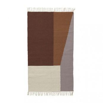 ferm LIVING - Kelim Borders Teppich klein 9281 - mehrfarbig/handgewebt/80x140cm/chemisch reinigen