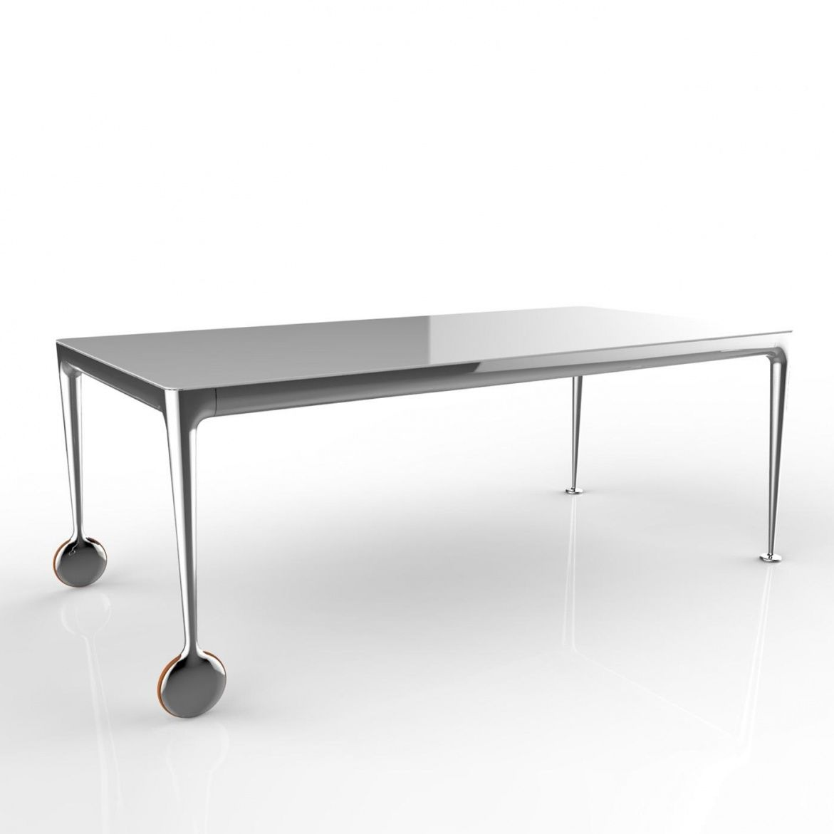 Big Dining Table Part - 39: Magis - Big Will Dining Table/Office Table - White/glossy/200x100cm/