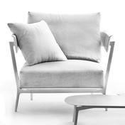 Weishäupl - Aikana Sessel / Gartensessel - weiß/Gestell weiß/inkl. Sitzkissen/ohne Rücken- und Dekokissen
