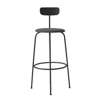 Menu - Afteroom Bar Chair Barhocker gepolstert - schwarz/schwarz melange/pulverbeschichtet/BxHxT 50x102x55cm/Sitzpolster Stoff Kvadrat