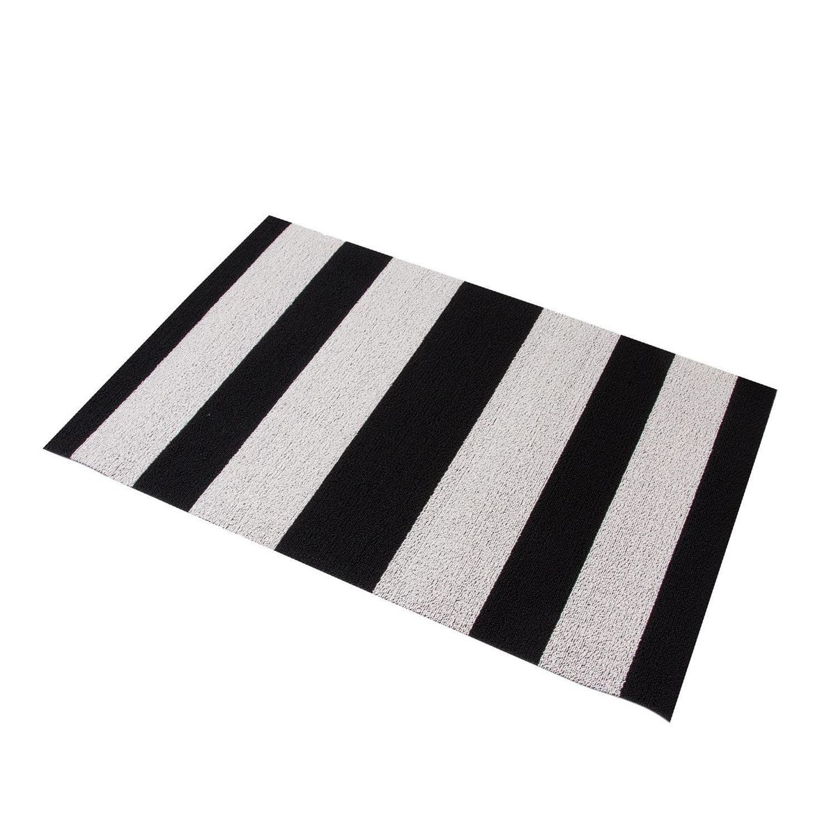 shag bold stripe door mat xcm  chilewich  ambientedirectcom - chilewich  shag bold stripe door mat  blackwhitexcm