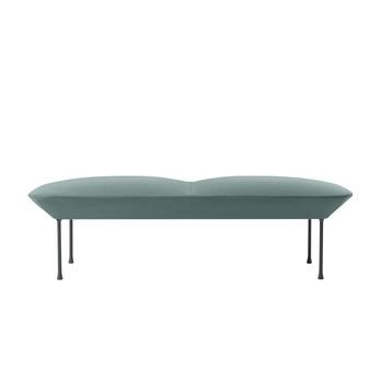 Muuto - Oslo Sitzbank - grün/Stoff Steelcut trio 966/LxBxH 150x73x45cm/Füße in dunkelgrau