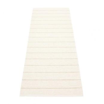 pappelina - Carl Teppich 70x180cm CA0C718 - vanille/weiß/wendbar
