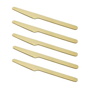 - HAY Everyday Messer 5er-Set - gold/LxB 2x20cm