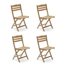 Skagerak - Set de 4 chaises de jardin Selandia