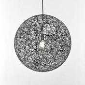 Moooi - Random Light LED Pendelleuchte - schwarz/Fiberglas/Ø80cm