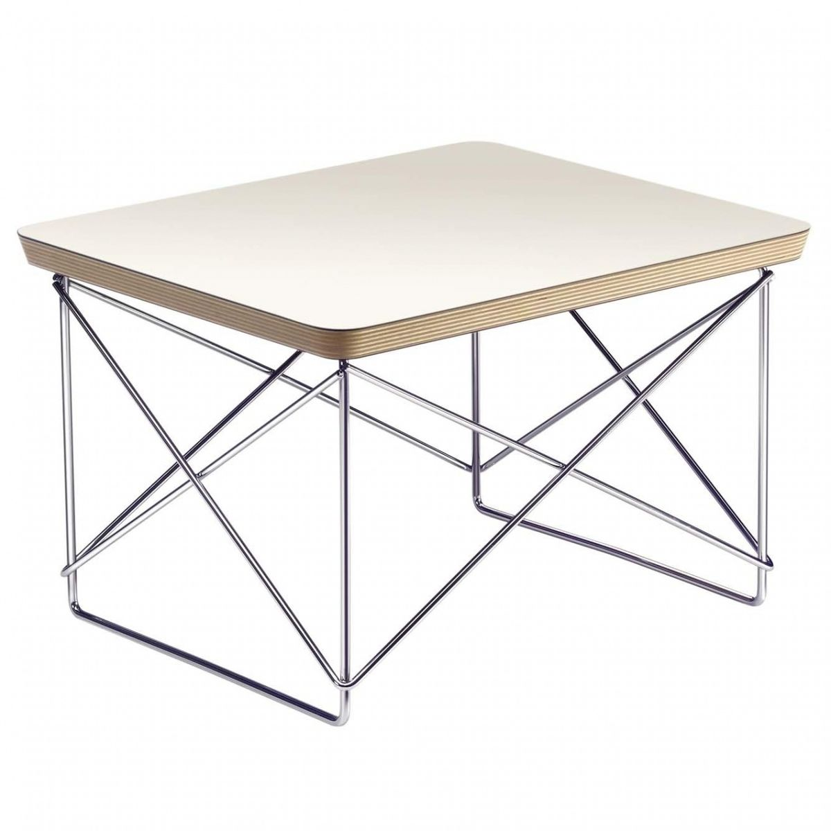 Vitra   Occasional Table LTR Side Table   White/oak Edge/frame Chrome