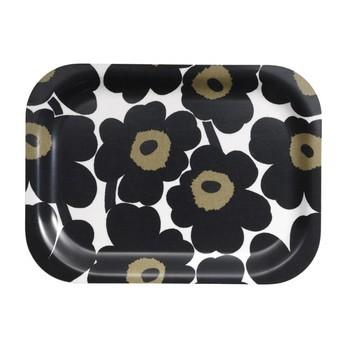 Marimekko - Mini-Unikko Tablett - schwarz-weiß/27x20cm