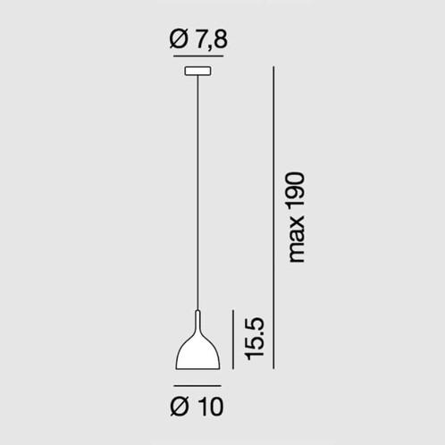 Rotaliana - Drink H2 Pendelleuchte - Strichzeichnung