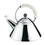 Alessi - 9093 Kettle  - stainless steel/polished/handle white