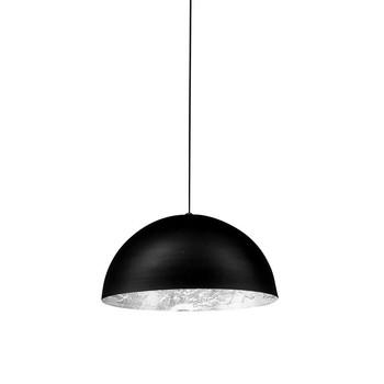 Catellani & Smith - Stchu-Moon 02 LED Pendelleuchte Ø40cm - silber/matt schwarz/2600-2800K/1000lm/CRI80/inkl. TRIAC Dimmer