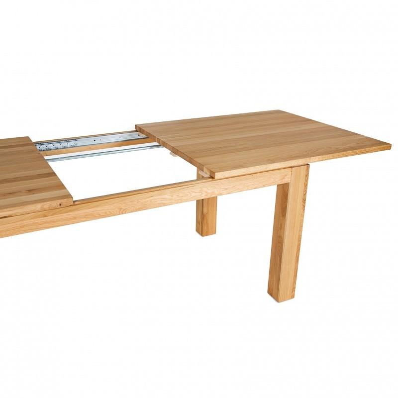 flex ausziehbarer holz esstisch adwood. Black Bedroom Furniture Sets. Home Design Ideas
