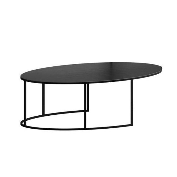 slim irony oval coffee table | zeus | ambientedirect