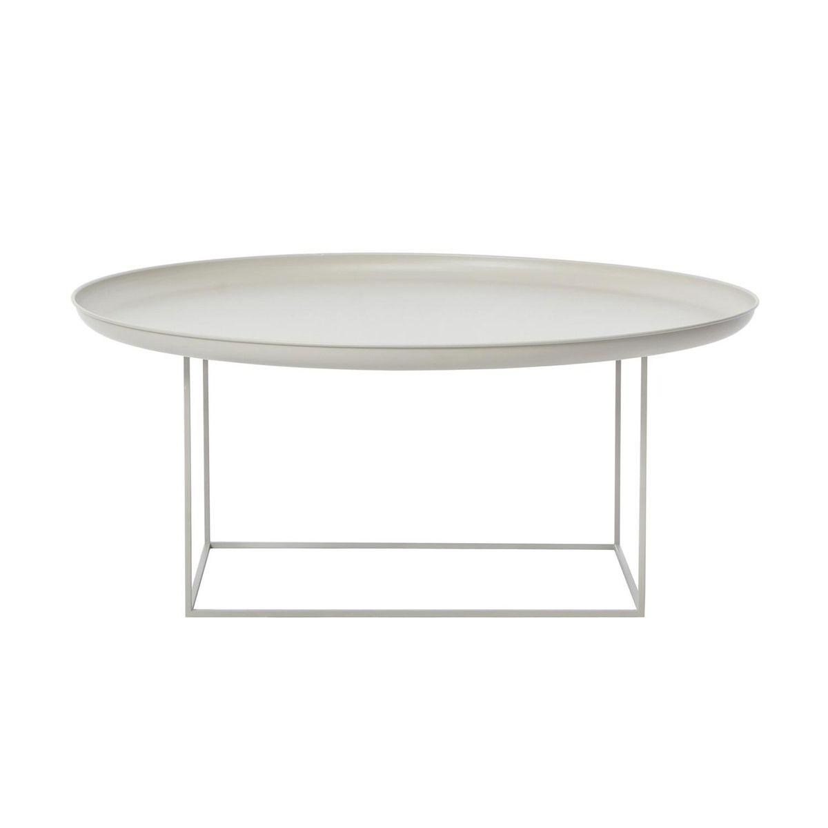 NORR 11   Duke Large Side Table Ø 90cm   Kahki Grey/removable Table Top