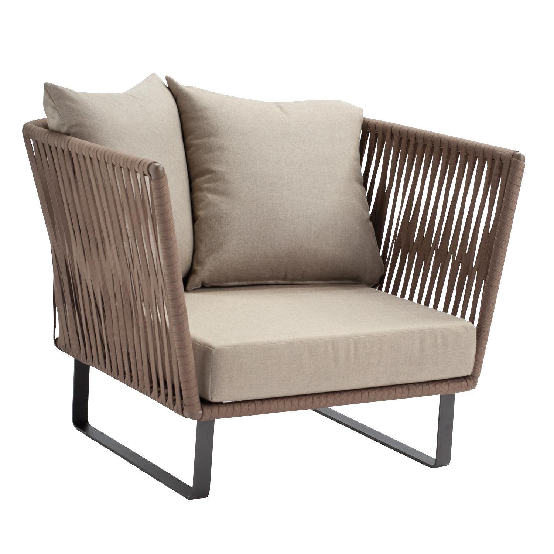 Charmant Kettal   Bitta Club Armchair / Garden Chair   Dry Sand/brown/fabric 285