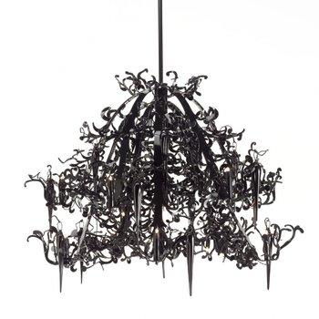 Brand van Egmond - Flower Power chandelier - black/steel