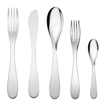 - Eat.it Besteckgarnitur 24tlg. - edelstahl/poliert/6 Tafellöffel/6 Tafelgabeln/6 Tafelmesser/6 Kaffeelöffel
