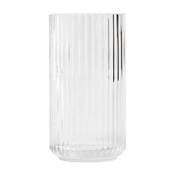 Lyngby Porcelæn - Lyngby Glas Vase H25cm - transparent/mundgeblasenes Glas/Ø14cm