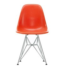 Vitra - Eames Fiberglass Side Chair DSR Chromed Base