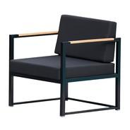 Jan Kurtz - Fauteuil de jardin Lux Lounge structure noir