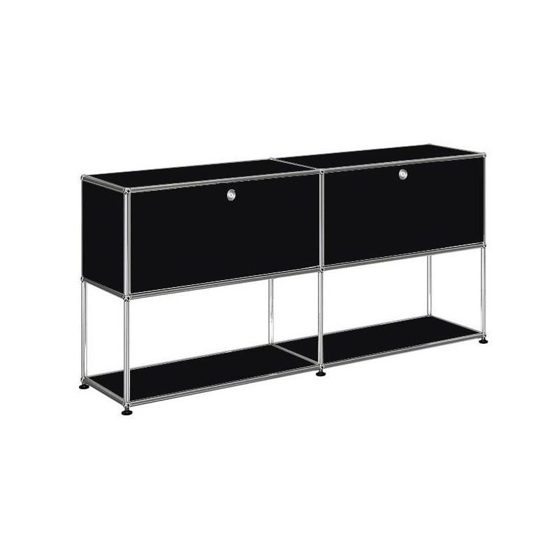 usm sideboard mit 2 klappt ren oben h74cm usm haller sideboards aufbewahrung m bel. Black Bedroom Furniture Sets. Home Design Ideas