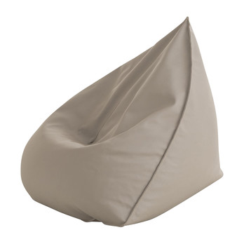 Gandia Blasco - Sail Outdoor Pouf/Bean Bag - taupe/fabric Water Sunbrella.Sling taupe/removable upholstery/LxWxH 110x100x120cm
