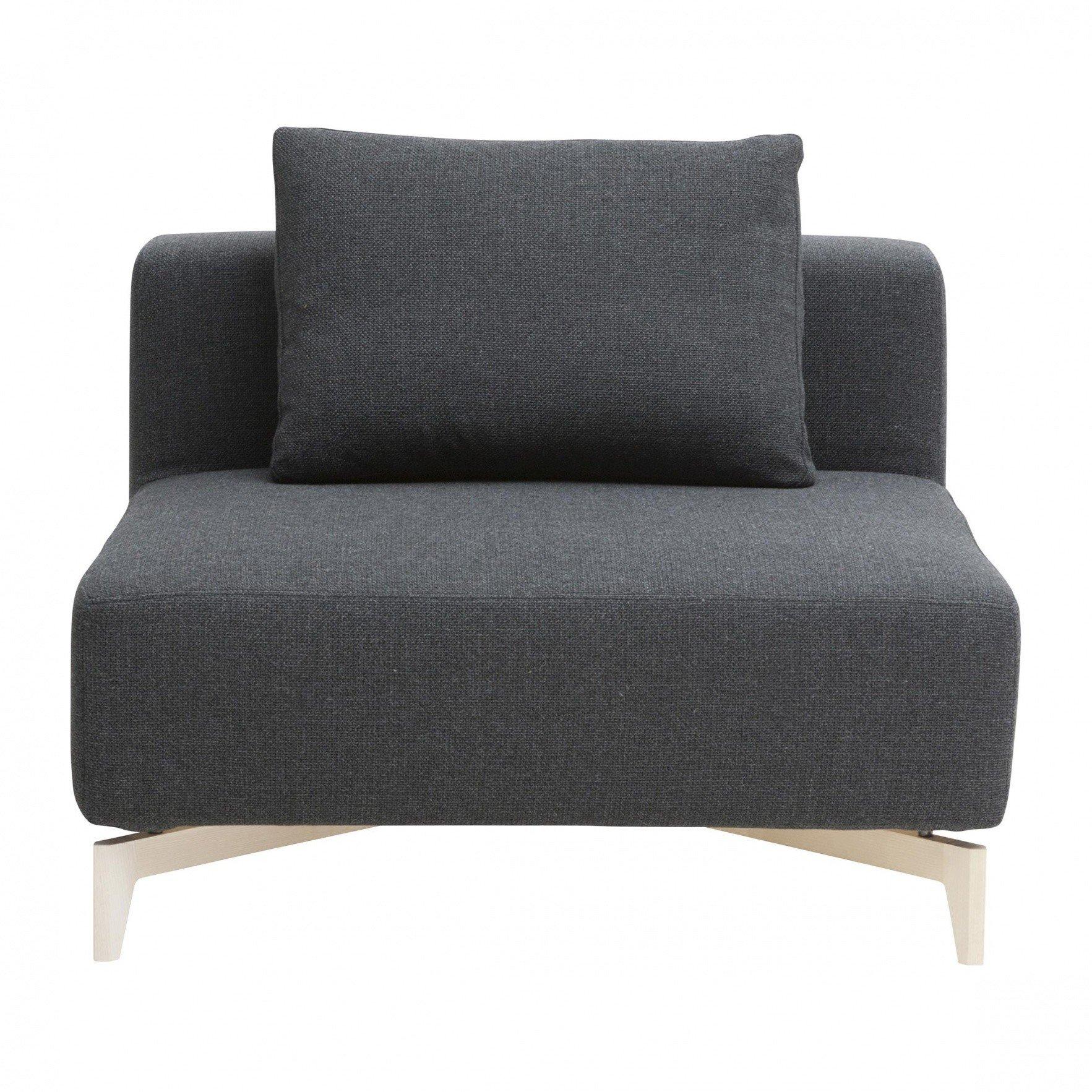 Künstlerisch Couch Dunkelgrau Sammlung Von Softline - Passion Sofa-einzelelement 98x98cm - Dunkelgrau/stoff