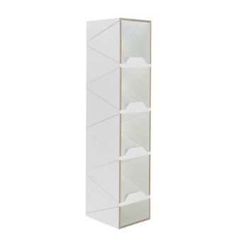 müller möbelwerkstätten - Shustack Eight Shelf - white/CPL-coating/5 compartments/WxHxD 37.5x134x28.5cm