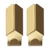 HAY - Volet Hook Kleiderhaken - gold/eloxiert/H: 8cm/2er-Set