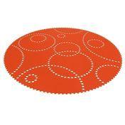 Hey-Sign - Stamp Teppich rund - mango orange/Filz/Ø120cm