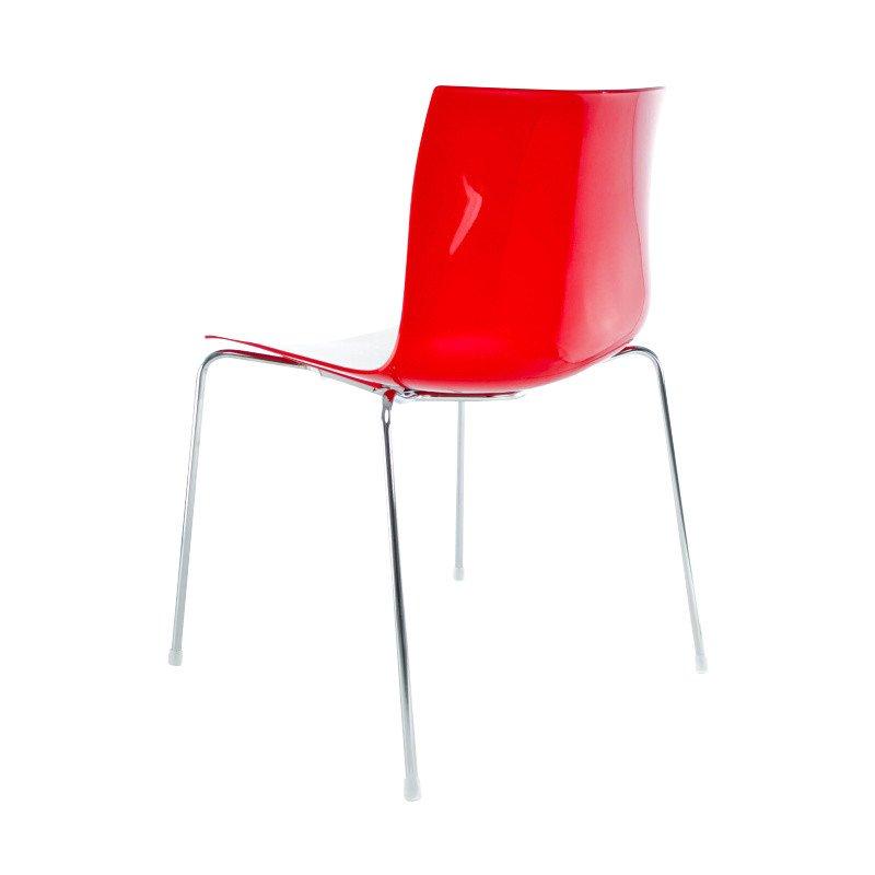 catifa 46 0251 stuhl zweifarbig gestell chrom arper. Black Bedroom Furniture Sets. Home Design Ideas