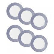 Royal Doulton - Set de 6 assiettes Pacific Dots Ø23cm