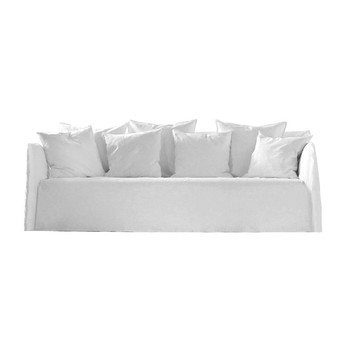 Gervasoni - Ghost 12 Sofa - weiß/Stoff Lino bianco/inkl. 2 Kissen 50x50 weiß/inkl. 4 Kissen 60x60 weiß