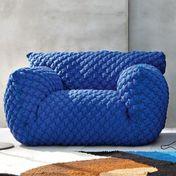Gervasoni - Nuvola 09 Easy Chair - blue/fabric 3D Blu