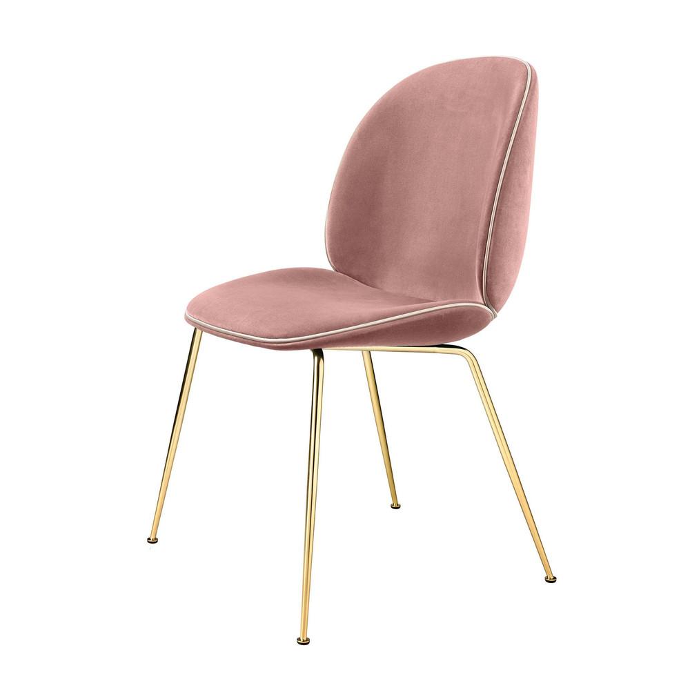 beetle chair with velvet brass base gubi. Black Bedroom Furniture Sets. Home Design Ideas