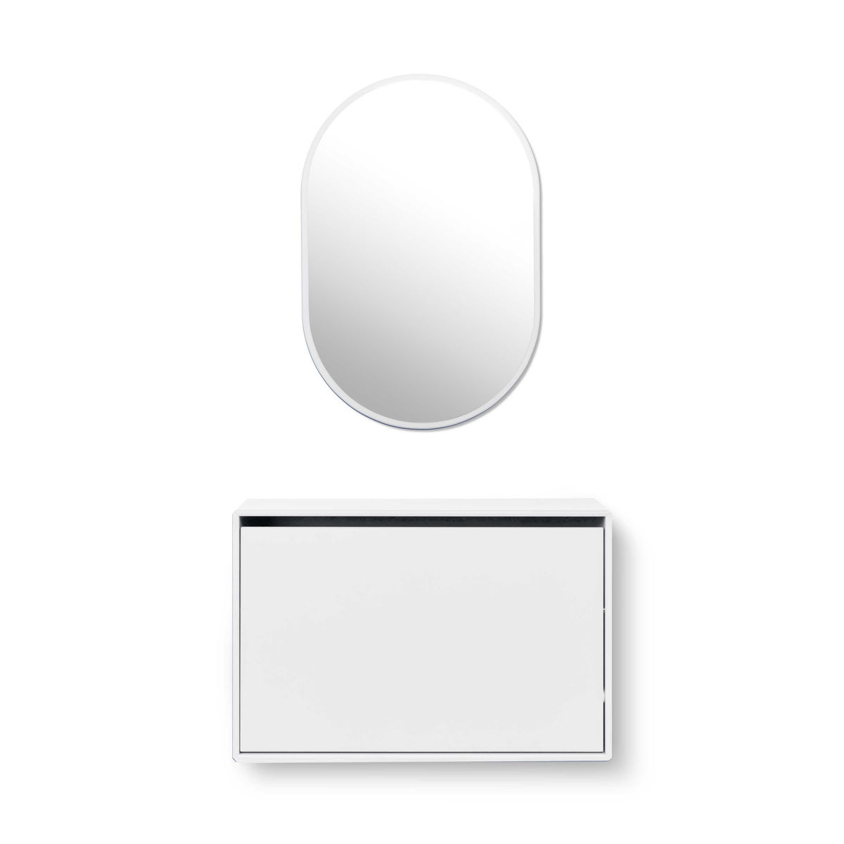 Hello armoire f chaussures avec miroir montana - Armoire a chaussures avec miroir ...