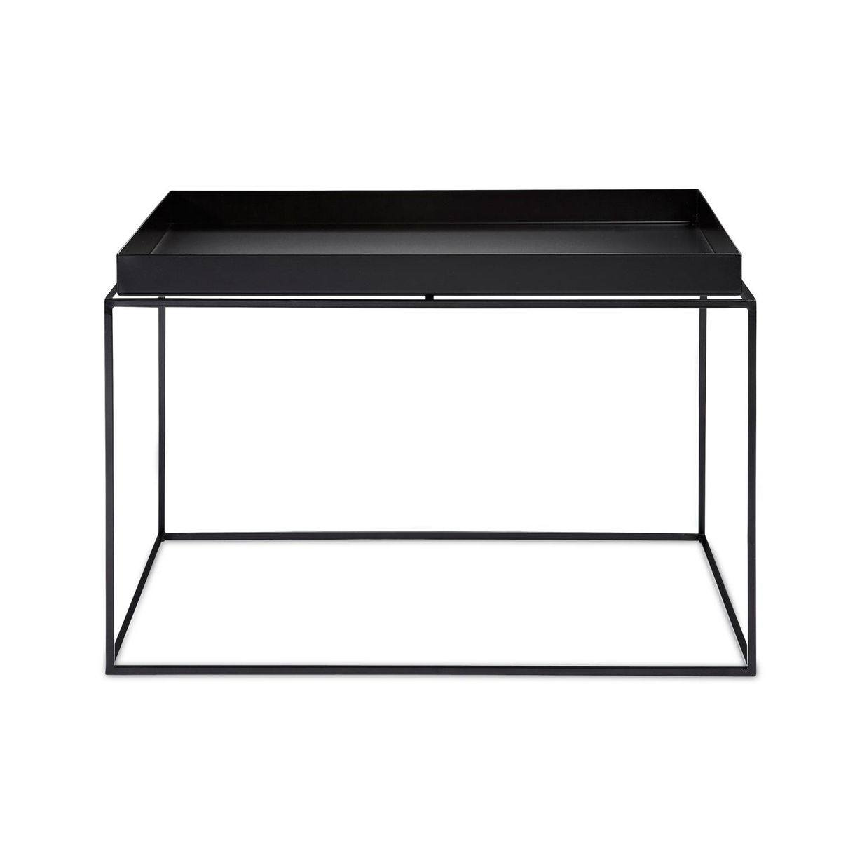 Shop Aira Black Square Coffee Table With Modern White Tray: Tray Coffee Table