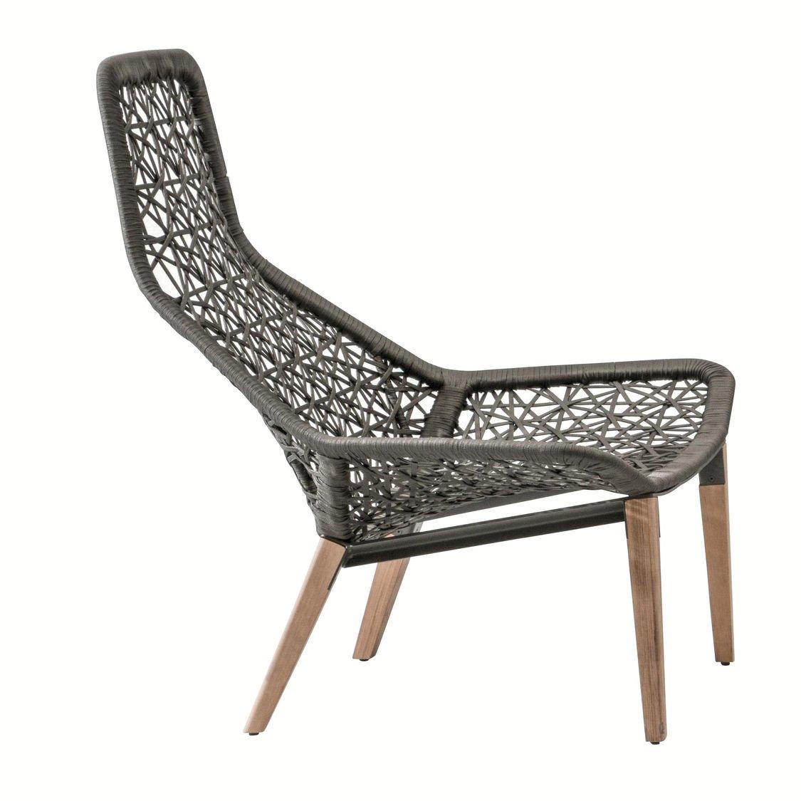 Kettal Maia Relax - Sillón de jardín patas de madera | AmbienteDirect