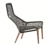 Kettal - Maia Relax Garden Armchair wooden base