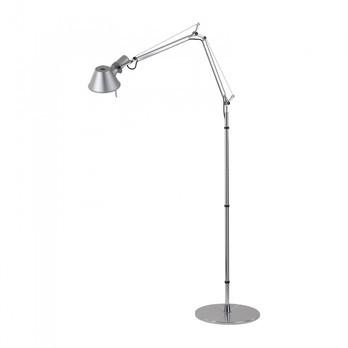 Artemide - Tolomeo Micro LED Stehleuchte - aluminium/poliert/eloxiert/BxH 69x109cm/3000K/400lm