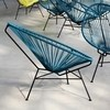 OK Design - Acapulco Chair Armlehnstuhl - petrol/Gestell schwarz