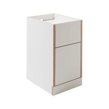 müller möbelwerkstätten - Flai Container  - weiß/CPL-Beschichtung/BxHxT 38x65x48cm/inklusive 4 versteckte Rollen