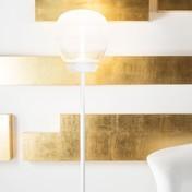 Artemide - Empatia Floor LED Stehleuchte - transparent/Gestell weiß/3000K/531lm/H 144.9cm/Ø 26cm