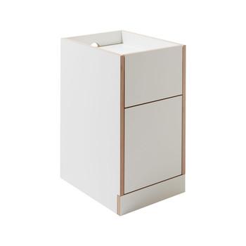- Flai Container  - weiß/CPL-Beschichtung/BxHxT 38x65x48cm/inklusive 4 versteckte Rollen