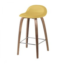 Gubi - 3D Counter Stool Barhocker Walnussgestell