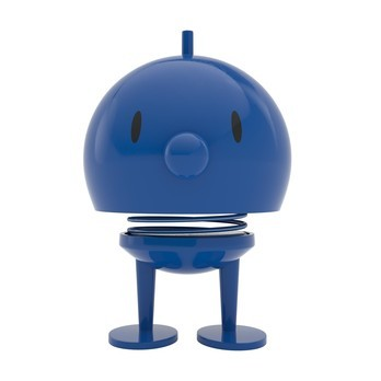 Hoptimist - Hoptimist Bumble Wackelfigur - blau/glänzend/H13,5cm/Ø10,0cm/mit Federmechanismus